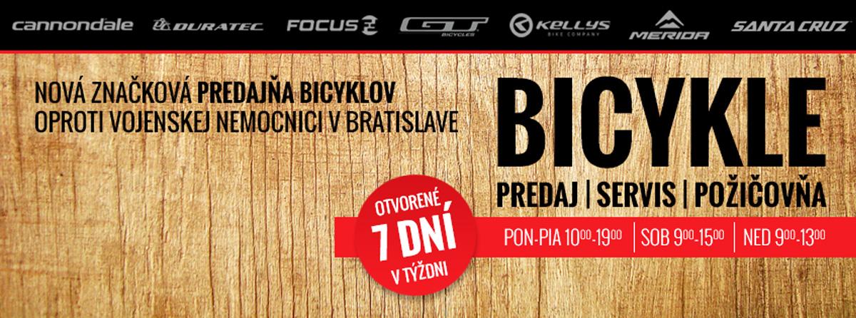 VeloCity – Predaj, servis a požičovňa bicyklov pri Železnej Studničke v Bratislave
