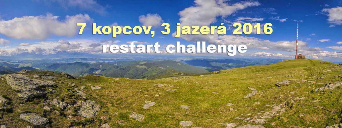 Pozvánka: Restart challenge 2016 - 7 kopcov a 3 jazerá