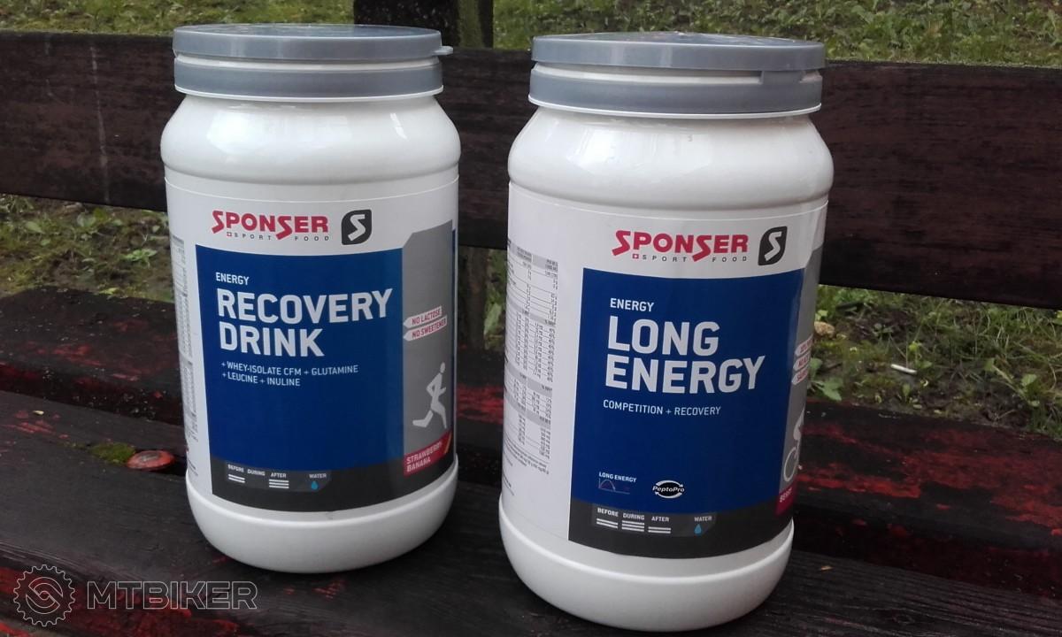 Test: Sponser Long Energy a Recovery Drink– doplnky výživy pre náročné výjazdy