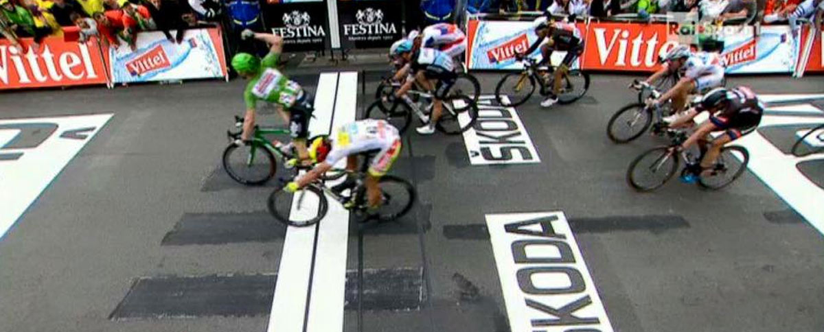 Sagan finišoval na druhom mieste a naďalej je držiteľom bieleho dresu pre najlepšieho jazdca do 25 rokov