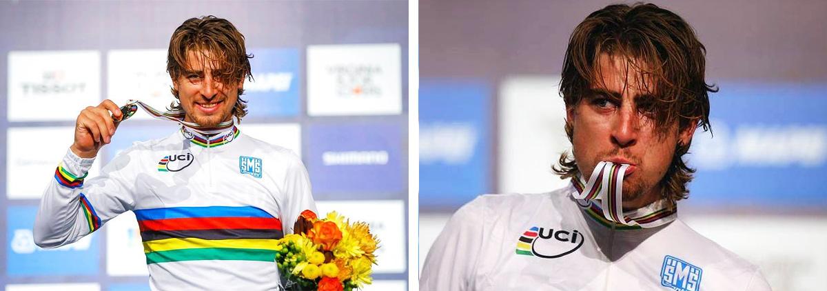 """Reakcie cyklistických osobností, tímov a médií na víťazstvo Petra Sagana v pretekoch """"elite"""" na majstrovstvách sveta v Richmonde"""