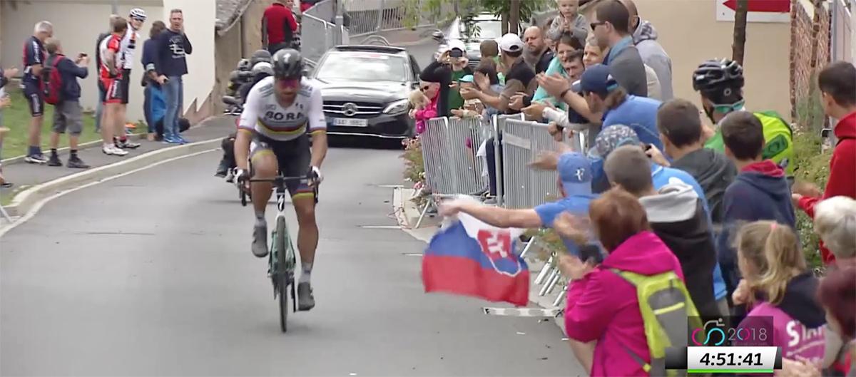 Peter Sagan sa stal majstrom Slovenska - na 192 km trati vyhral po vyše 80-kilometrovom sólovom úniku