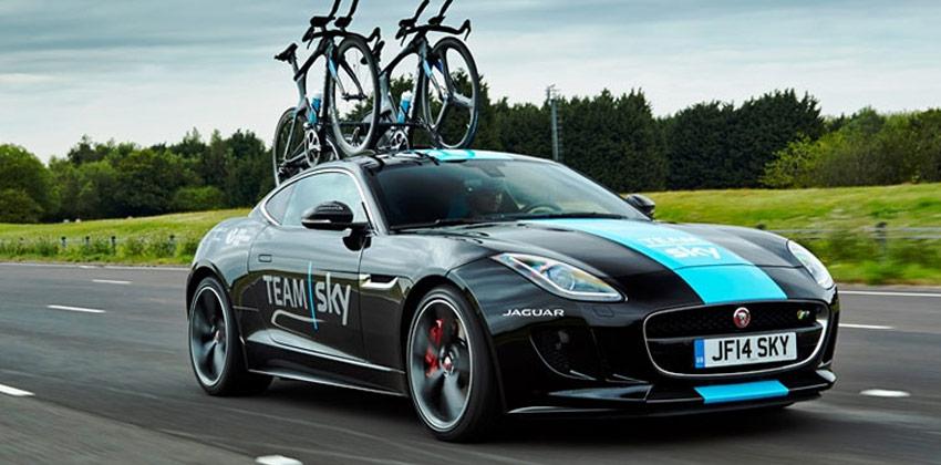 Pozrite sa na prototyp Jaguar, tímové vozidlo Sky na Tour de France