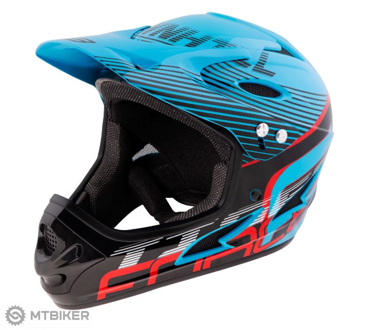 Prilba Force Tiger Downhill, modro-čierno-červená