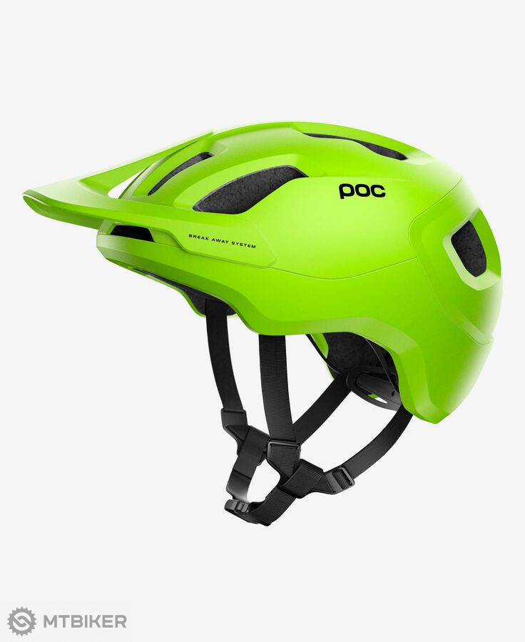 POC Axion SPIN prilba Fluorescent Yellow / Green Matt