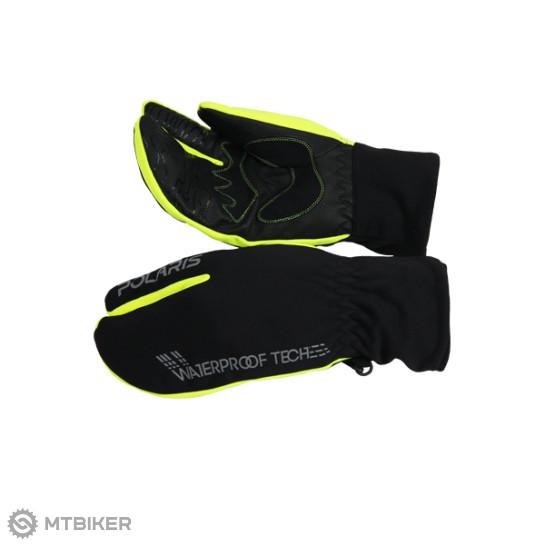 Rukavice Polaris Trigger Waterproof, čierno-žlté