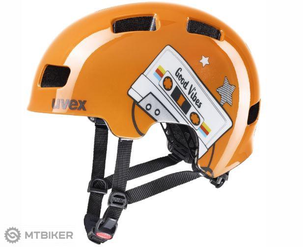 Uvex HLMT 4 detská prilba orange tape 2020