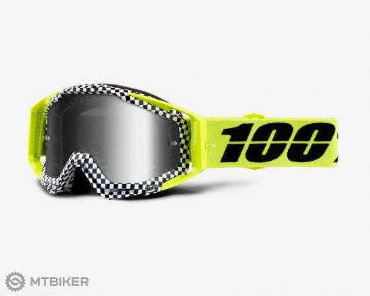 100% Raceraft Goggle Andre MTB okuliare Mirror Silver Lens