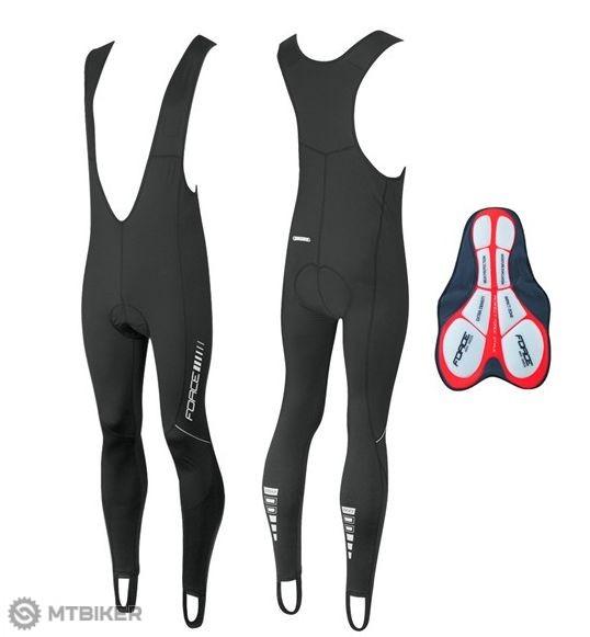 Force Z68 pánske nohavice s trakmi a vložkou čierne