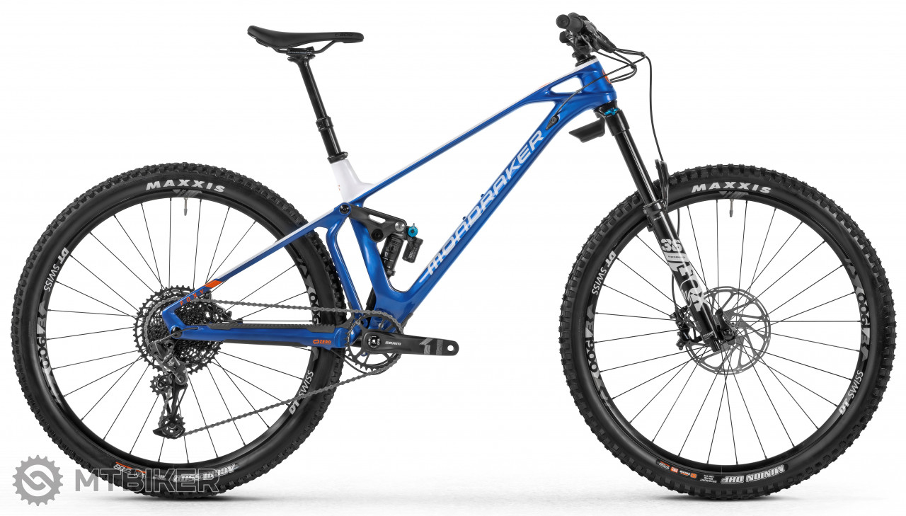 Mondraker Foxy Carbon R, blue/white/orange, model 2021