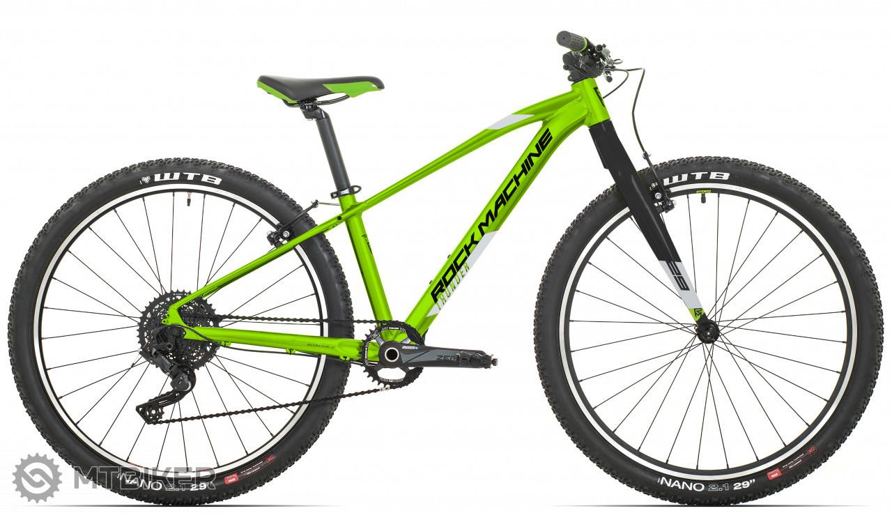 Rock Machine Thunder 29 VB, model 2021, zelená/strieborná/čierna