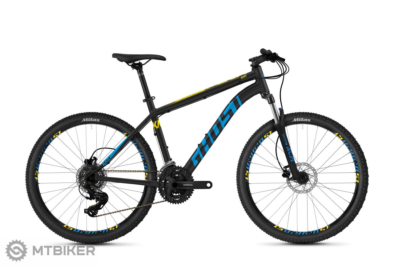 Ghost Kato Base 26 - čierna/modrá/žltá, model 2021