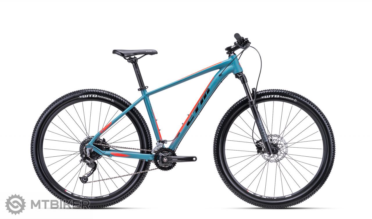 "CTM RAMBLER 2.0 29"" matná šedo - modrá / oranžová, model 2021"