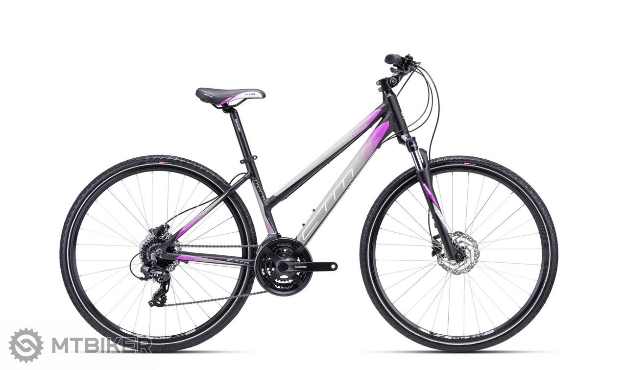 CTM MAXIMA 3.0 matná čierna / fialová, model 2021
