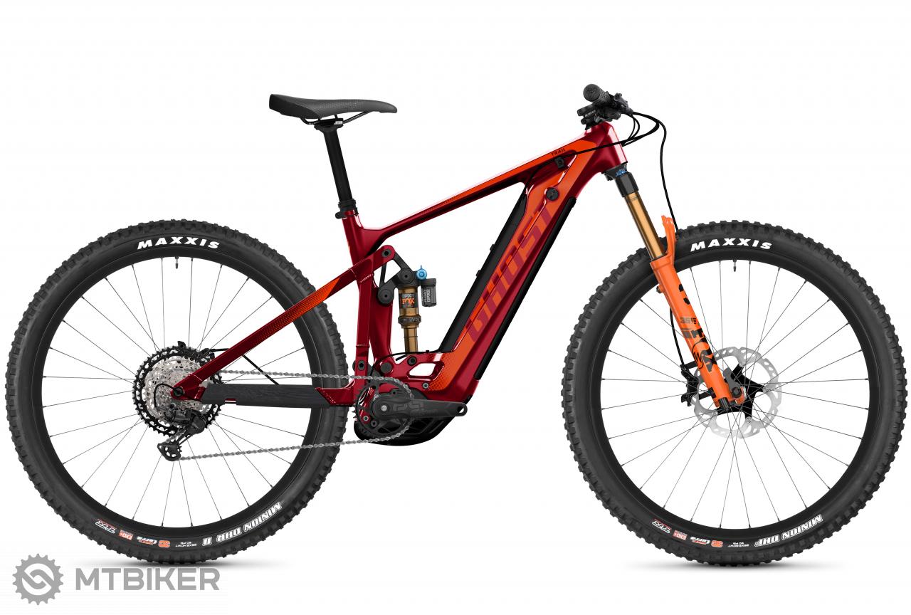 Ghost E-Riot Trail CF Pre B625 - Dark Red / Orange, model 2021