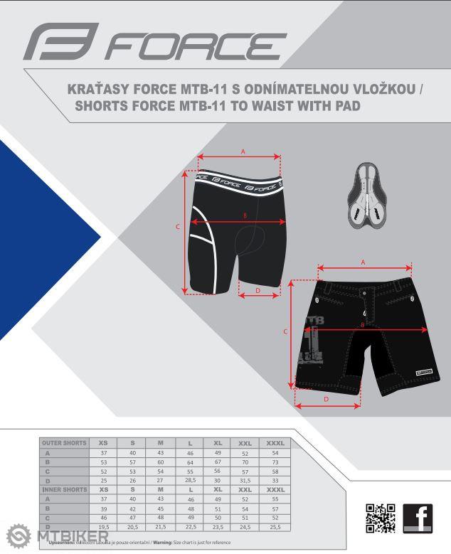 Force MTB-11 kraťasy s vložkou fluo - MTBIKER Shop b2dd11de99