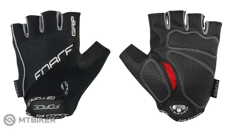 Force Grip Gél rukavice čierne