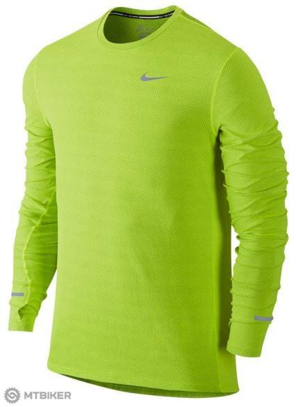 ed21df146e55 Nike Dri-Fit Contour pánske bežecké tričko s dl.rukávmi žltá reflexná