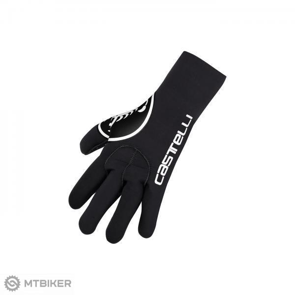 Castelli DILUVIO rukavice čierne/biele