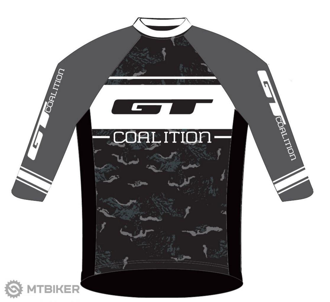 GT Freeride dres 3/4 rukáv grey/white 2016