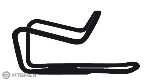 Ghost košík na fľašu oceľový čierny matný s bielym logom Ghost, model 2017