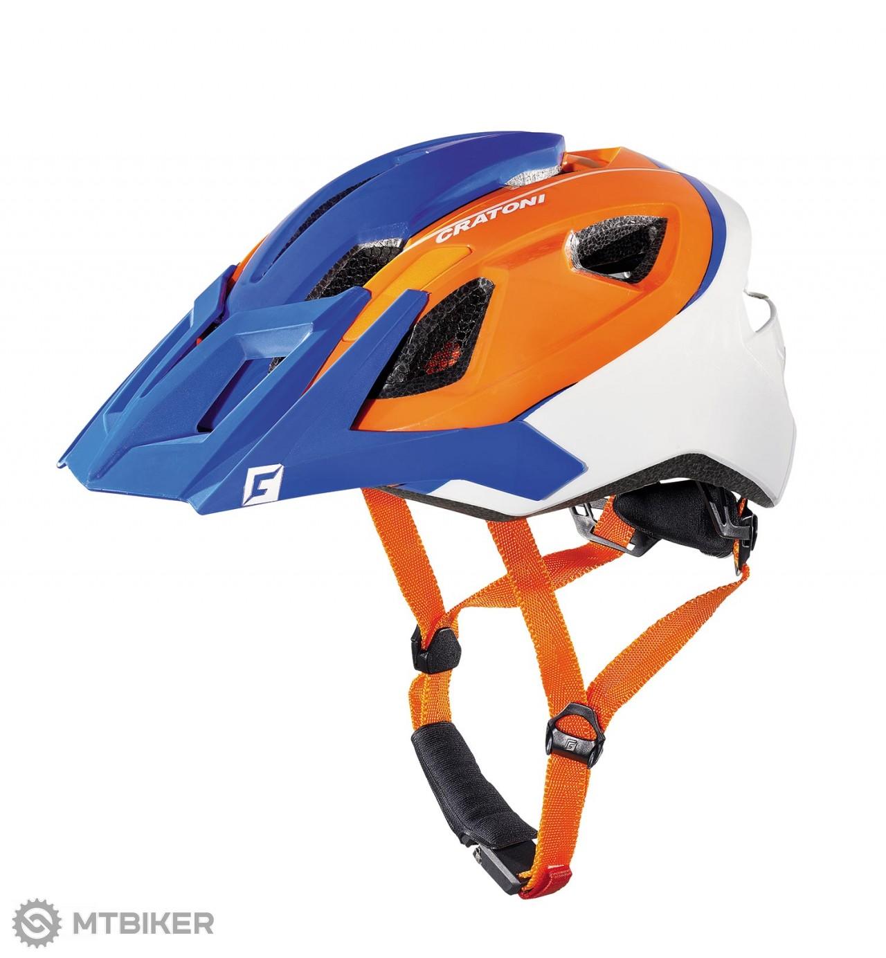 Cratoni AllRide blue-orange-white matt, model 2017