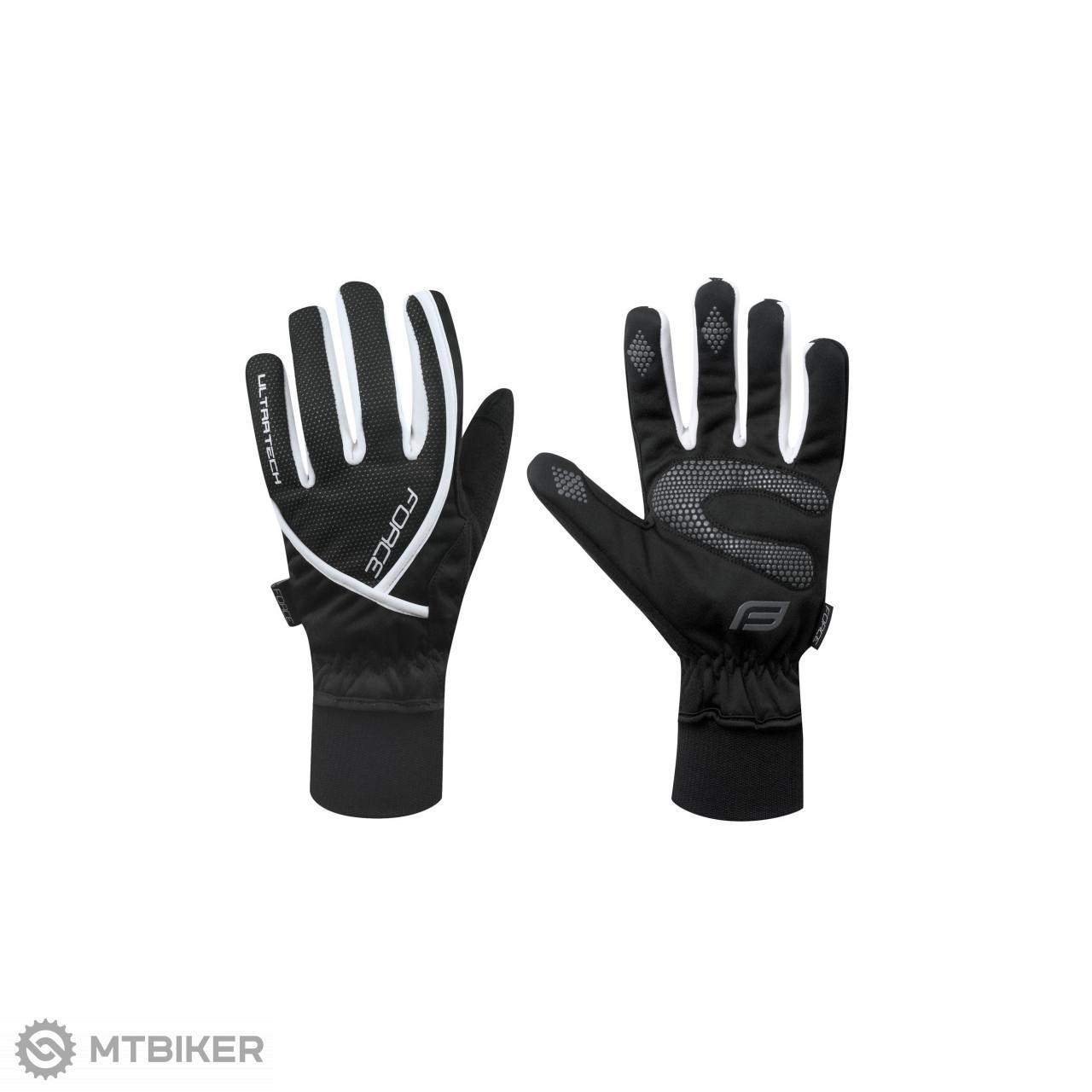 Force zimné rukavice ULTRA TECH čierno-biele