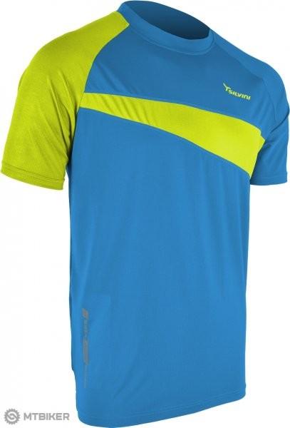 18ac3ba095c9 NE Silvini Coli pánské tričko modrá- zelená - MTBIKER Shop