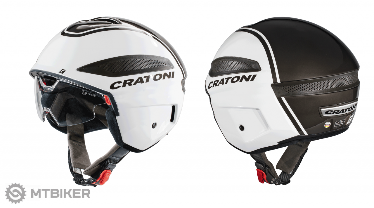 Cratoni Vigor - white-anthracite glossy, model 2020