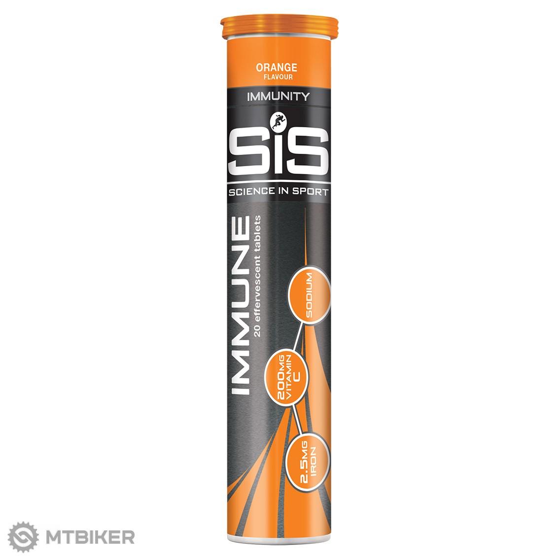 SiS Immune šumivé tablety 20 ks pomaranč