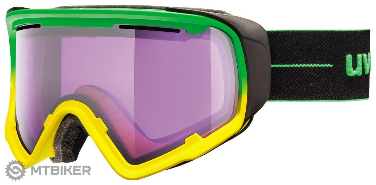 Uvex JAKK S5504337024 zelená/žltá, lyžiarske okuliare