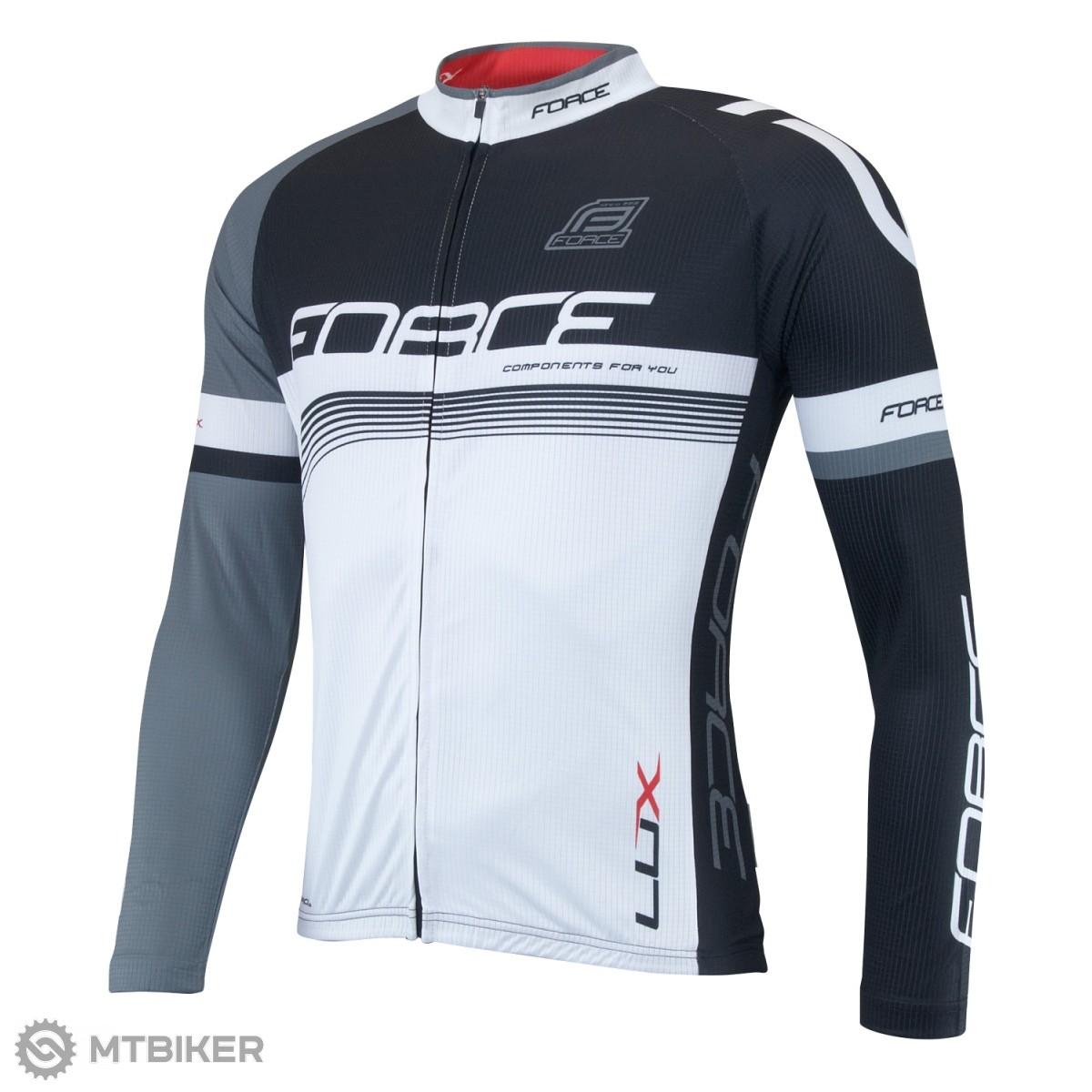 a979d79d0872 Force Lux dres dl. rukáv čierno-biele - MTBIKER Shop