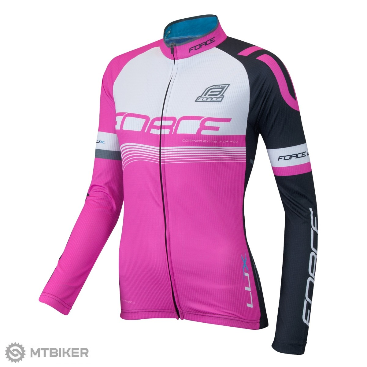37521662a Force Lux dámsky dres dl. rukáv ružový - MTBIKER Shop
