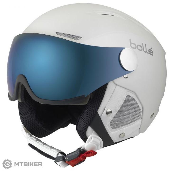 Bollé-Backline Visor Premium biela strieborná lyžiarska helma ... 8d0a57b7cfc