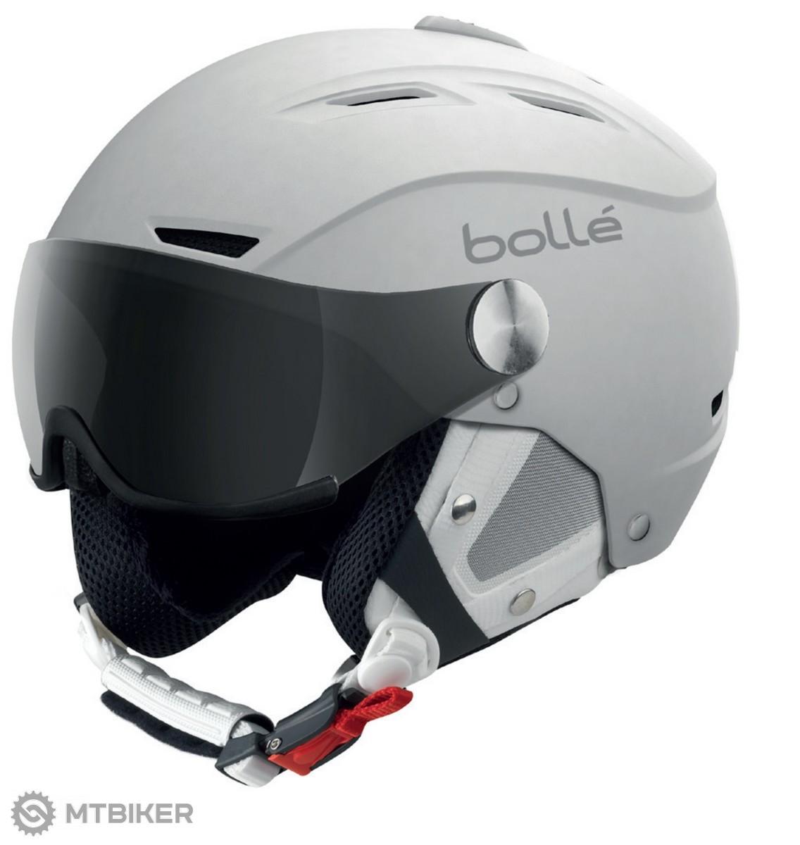 8b598842e Bollé-Backline Visor Soft White-silver lyžiarska helma - MTBIKER Shop