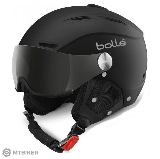 6dc7aac8a Bollé-Backline Visor Soft čierna/streiborná lyžiarska helma ...