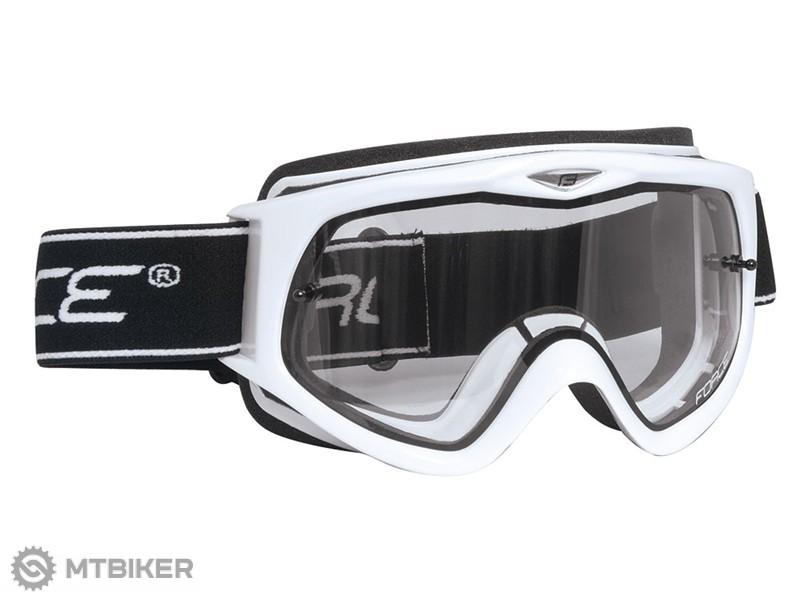 d39da1329 Force zjazdové okuliare biele - MTBIKER Shop