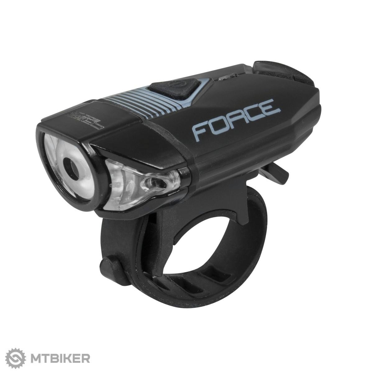 Force CASS 300LM USB predné svetlo čierne