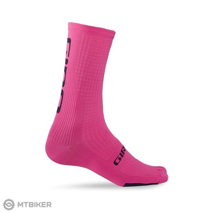 c0fd1b900 GIRO ponožky HRC Team - bright pink/black - MTBIKER Shop