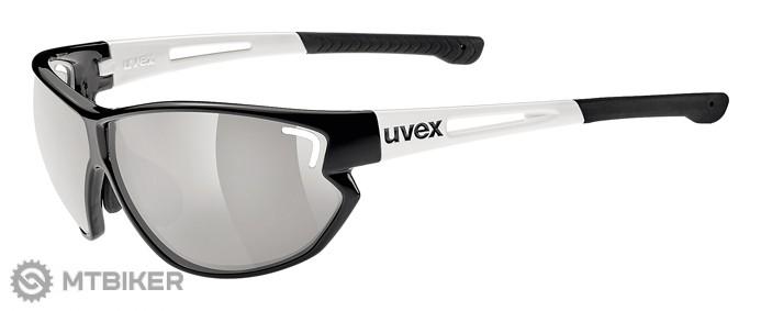 Uvex Sportstyle 810 vario okuliare Black, white/variomatic litemirror silver