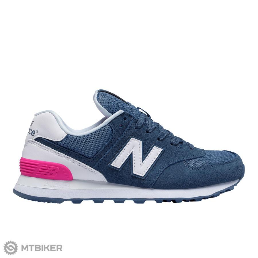 8aed89eea5 New Balance WL574CNB dámske lifestylové topánky modrá biela ružová ...
