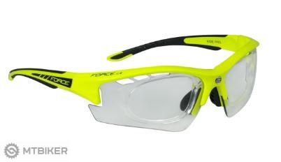 1b9054b20 Force Ride Pro cyklistické okuliare so samozatmavovacími sklami a  dioptrickým klipom neón