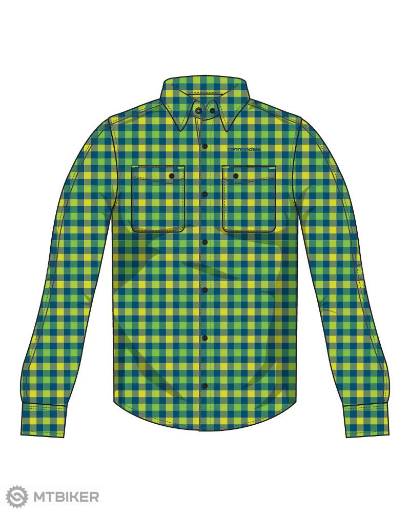 c62aaf797d40 Cannondale Shop Shirt pánska košeľa dlhý rukáv zelená kocka ...