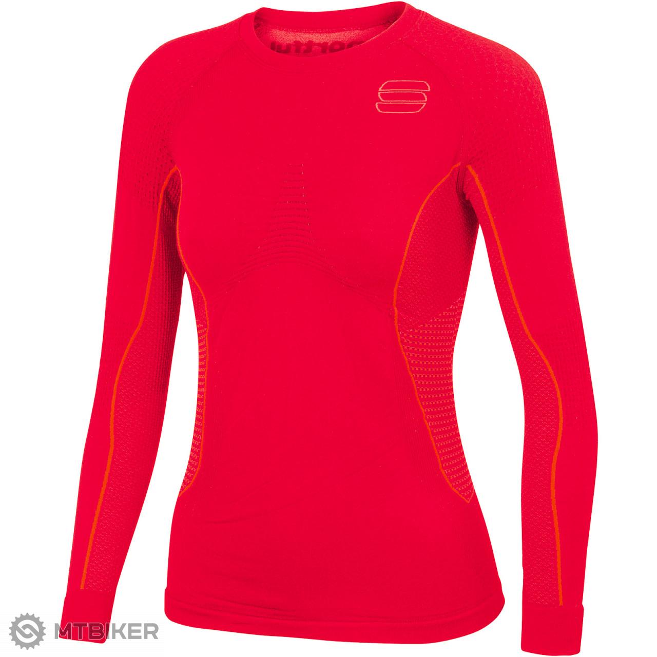 5d312495f847 Sportful 2nd Skin Tričko dlhý rukáv dámske červené - MTBIKER Shop