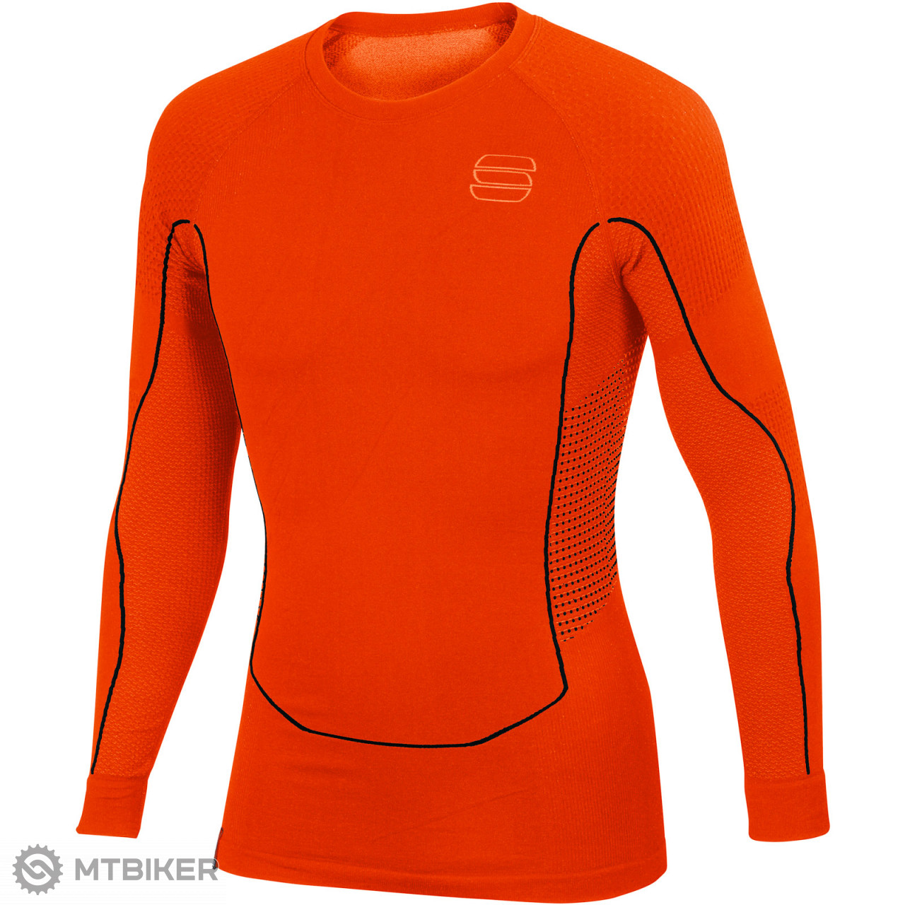 ba390b34c22e Sportful 2nd Skin Tričko s dlhým rukávom červené - MTBIKER Shop