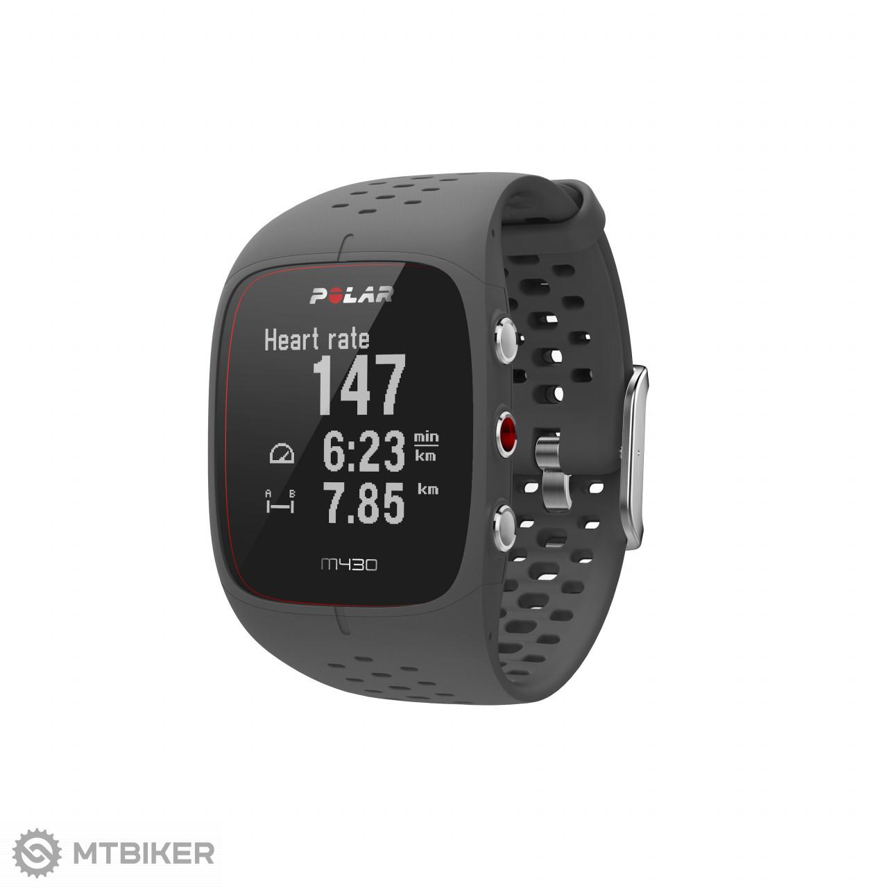 Polar M430 GPS hodinky sivé