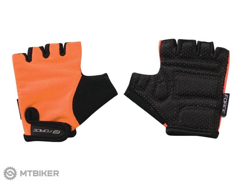 Force Kid detské rukavice oranžová - MTBIKER Shop 9e7d029432