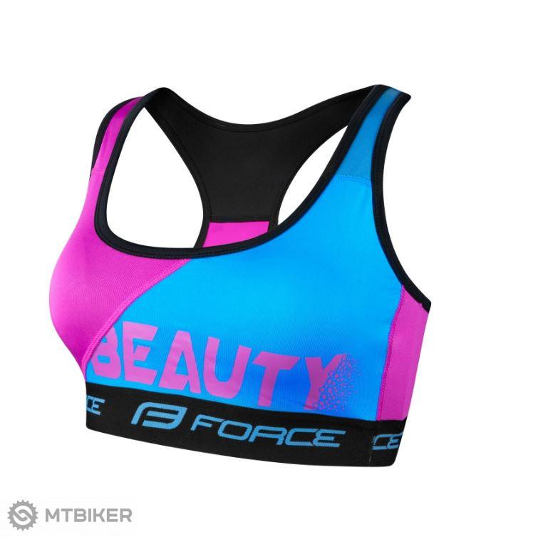 Force Beauty dámska športová podprsenka modrá/ružová
