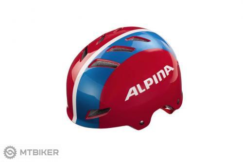 Alpina prilba PARK jr. červeno-modro-biela