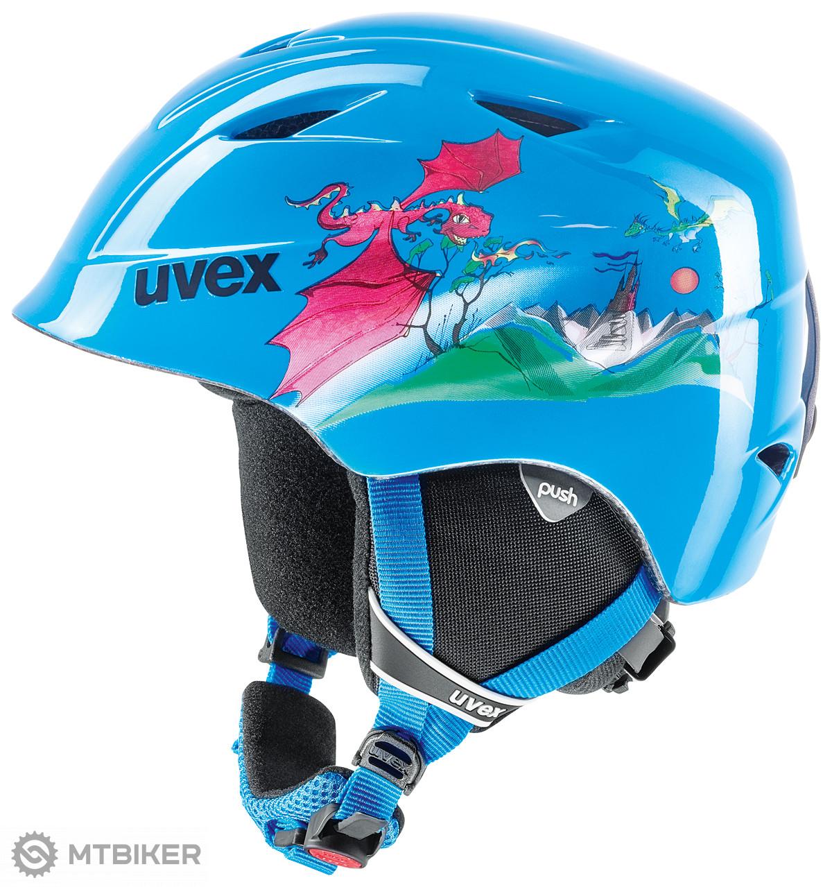 UVEX Airwing 2 Blue Dragon lyžiarska prilba detská - MTBIKER Shop 56514c117ba